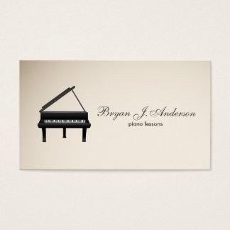 Klavier-Musik-Lehrer-Visitenkarte Visitenkarten