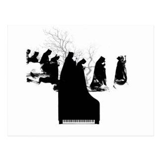 Klavier-Prozession Postkarte