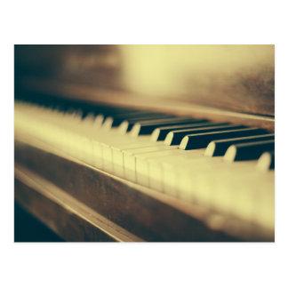 Klavier-Schlüssel Postkarte