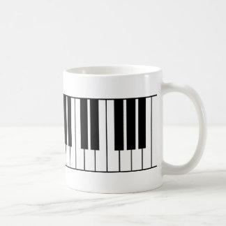 Klavier-Schlüssel Tasse