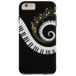Klavier-Schlüssel und GoldMusiknoten iPhone 6 Fall Tough iPhone 6 Plus Hülle