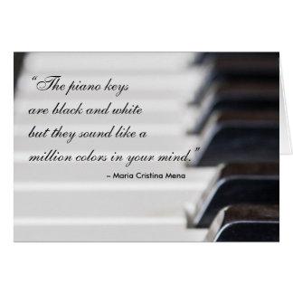 Klavier-Schlüssel-Zitat Grußkarte