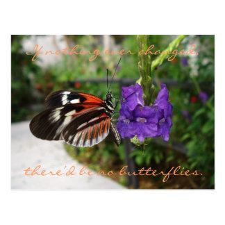 Klavier-Schmetterlings-Postkarte/Zitat Postkarte
