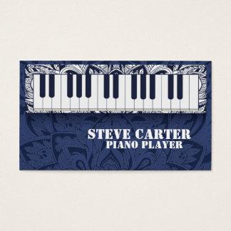 Klavier-Spieler-Lehrer-Musik-Schulkünstler-Karte Visitenkarte