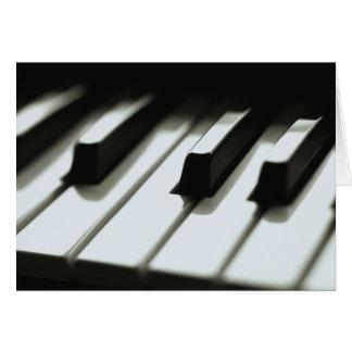 Klavier-Tastatur-Karte Karte