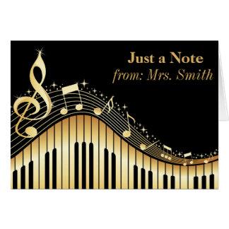 Klavier und Musik-personalisierte Gruß-Karten Karte
