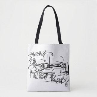 Klavier und Musik-Themed Tasche