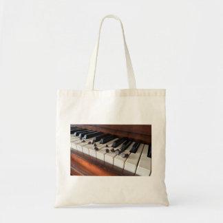 Klavier- und Schokoladenchip-Taschentasche Tragetasche