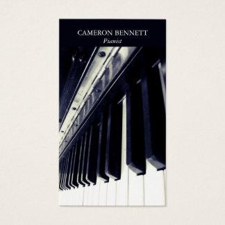 Klavier-Visitenkarte Visitenkarte