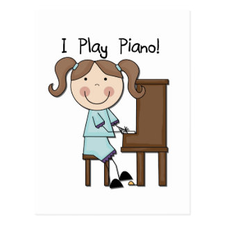 Klavier - weibliche T-Shirts und Geschenke Postkarten