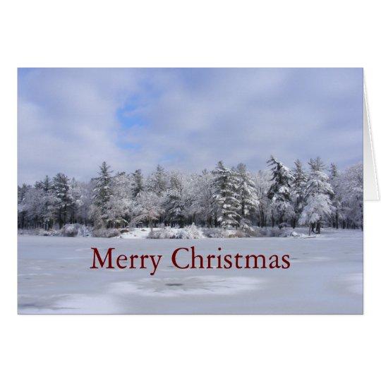 Klebrige Weihnachten~ Karte des Schnee-34