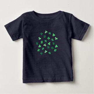 Klee-Blätter-Baby-Schoss-T - Shirt