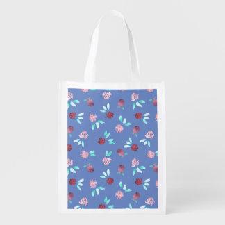 Klee-Blumen-wiederverwendbare Tasche Wiederverwendbare Einkaufstasche