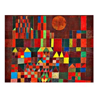 Klee - Schloss und Sun Postkarte
