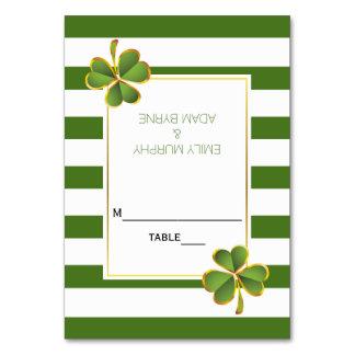 Klee und irische Hochzeit der Grünstreifen Karte
