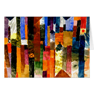 Klee - vor der Stadt. Paul Kleemalen Karte