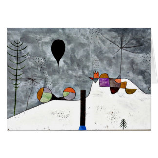 Klee - Winter, Paul Kleemalen Karte