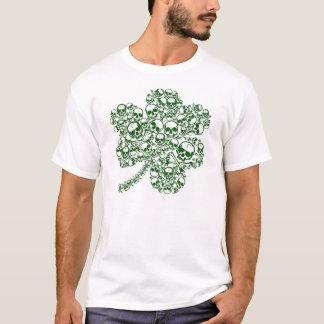 Kleeblatt der Schädel irisch T-Shirt