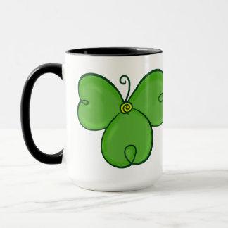 Kleeblatt-glückliche grüne Klee-Tasse Tasse
