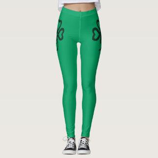 Kleeblatt-grüne Fitness-Mode-Gamaschen Leggings