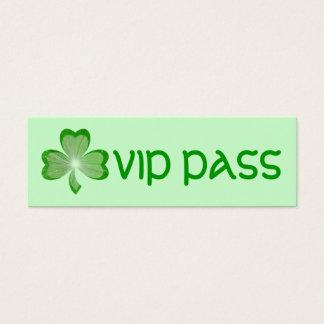 "Kleeblatt grüne ""VIP-DURCHLAUF"" Geschäftskarte Mini Visitenkarte"