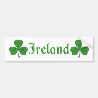 Kleeblatt Irland Autoaufkleber