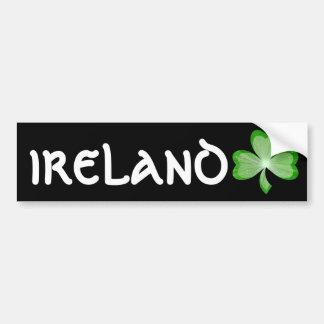 "Kleeblatt-""Irland"" Autoaufkleberschwarzes Autoaufkleber"