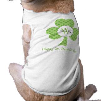 Kleeblatt mit Polkapunkten und kundenspezifischer T-Shirt