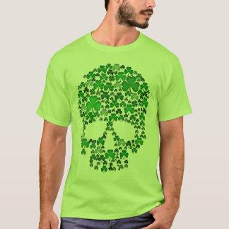 Kleeblatt-Schädel St. Patricks Tages T-Shirt