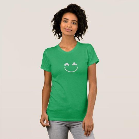 Kleeblatt-Smiley St Patrick TagesShirt T-Shirt