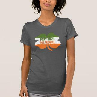 Kleeblatt St. Patricks Tages- zerteilen Sie Iren T-Shirt