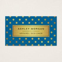 Kleiderdesigner - Königsblau-Goldpunkte Visitenkarten