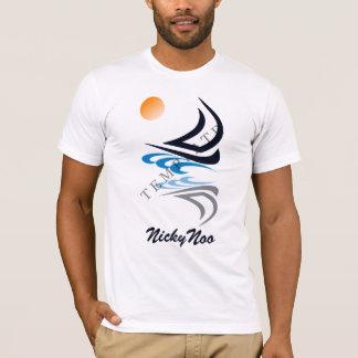 Kleiderkundenspezifisches Schablonen-Bild u. Text T-Shirt
