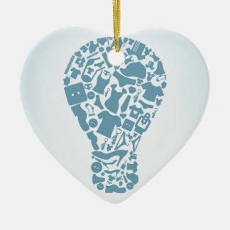 Kleidet eine Birne Keramik Herz-Ornament
