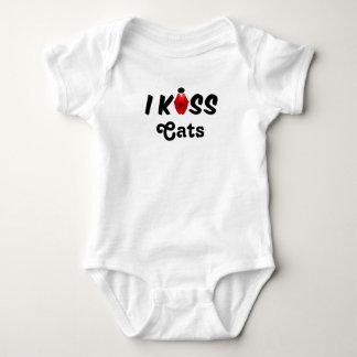 Kleidungs-Baby küsse ich Katzen Baby Strampler