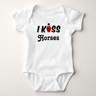 Kleidungs-Baby küsse ich Pferde Baby Strampler
