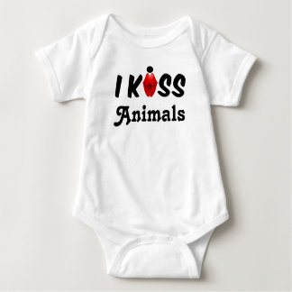 Kleidungs-Baby küsse ich Tiere Baby Strampler