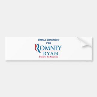 Kleinbetrieb für Romney Ryan Autoaufkleber