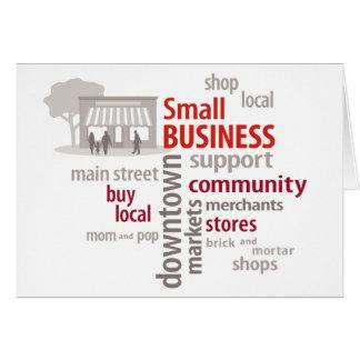 Kleinbetrieb, kaufen Einheimisches, kaufen Mitteilungskarte