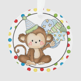 Kleine Affe-alles- Gute zum Geburtstagverzierung Ornament