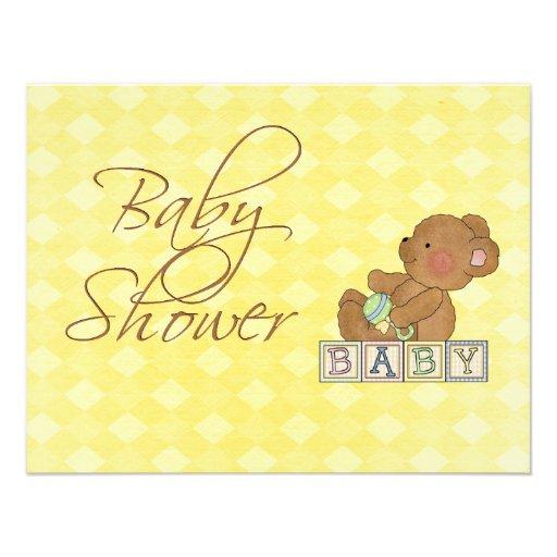 Kleine Baby-Bärn-Babyparty-Einladung