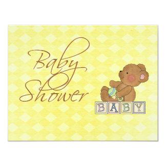Kleine Baby-Bärn-Babyparty-Einladung 10,8 X 14 Cm Einladungskarte