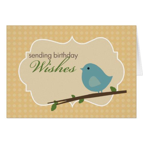 Kleine blaue Vogel-Geburtstags-Karte Grußkarte