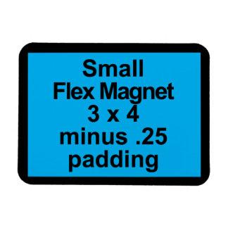 Kleine Flexmagnet-Schablonen-horizontales Magnet