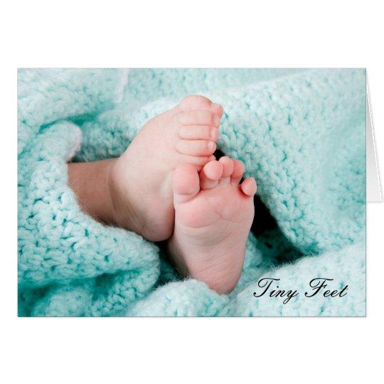 Kleine Füße - Geburt im neuen Babygruß der Familie Grußkarte