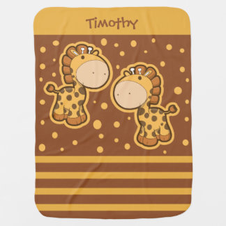 Kleine Giraffen-Baby-Decke Kinderwagendecke