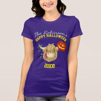 Kleine Hamish Hochland-Kuh Halloween T-Shirt