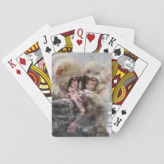 Kleine heiße Quellen der Affe-|, Japan Spielkarten