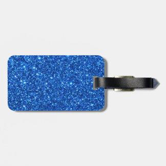 Kleine helle blaue Glitter-Glitzern Gepäckanhänger