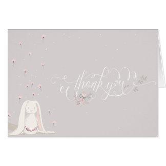 Kleine Kaninchen-Babyparty danken Ihnen Anmerkung Karte